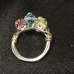 Jewelry - Lovely multi color crystal ring